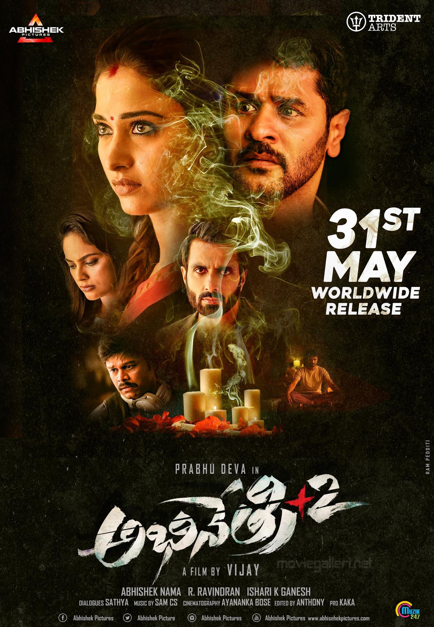 Tamannaah, Prabhu Deva in Abhinetry 2 Movie Release Posters