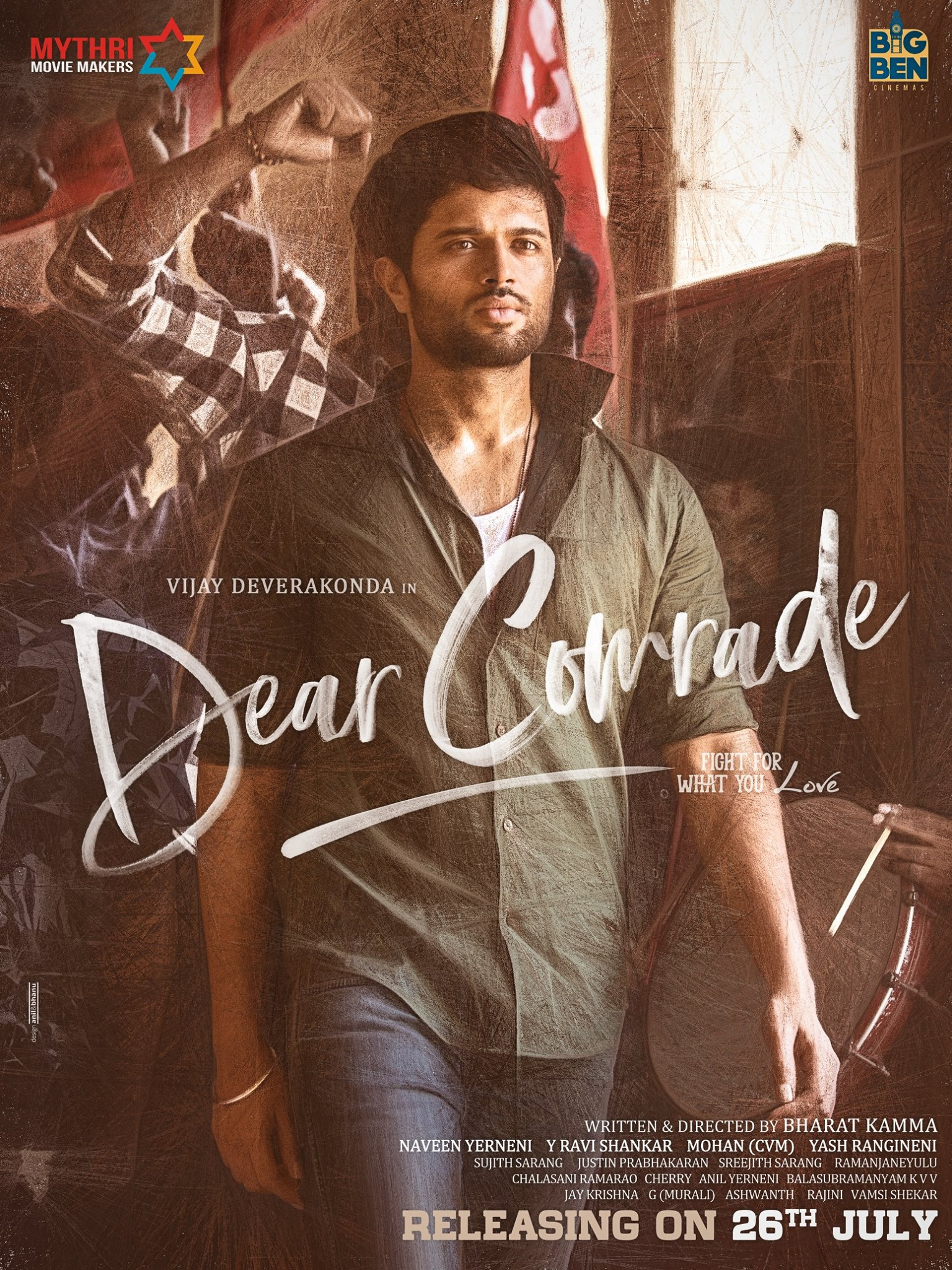 Vijay Deverakonda Dear Comrade Movie Release Date on July 26th
