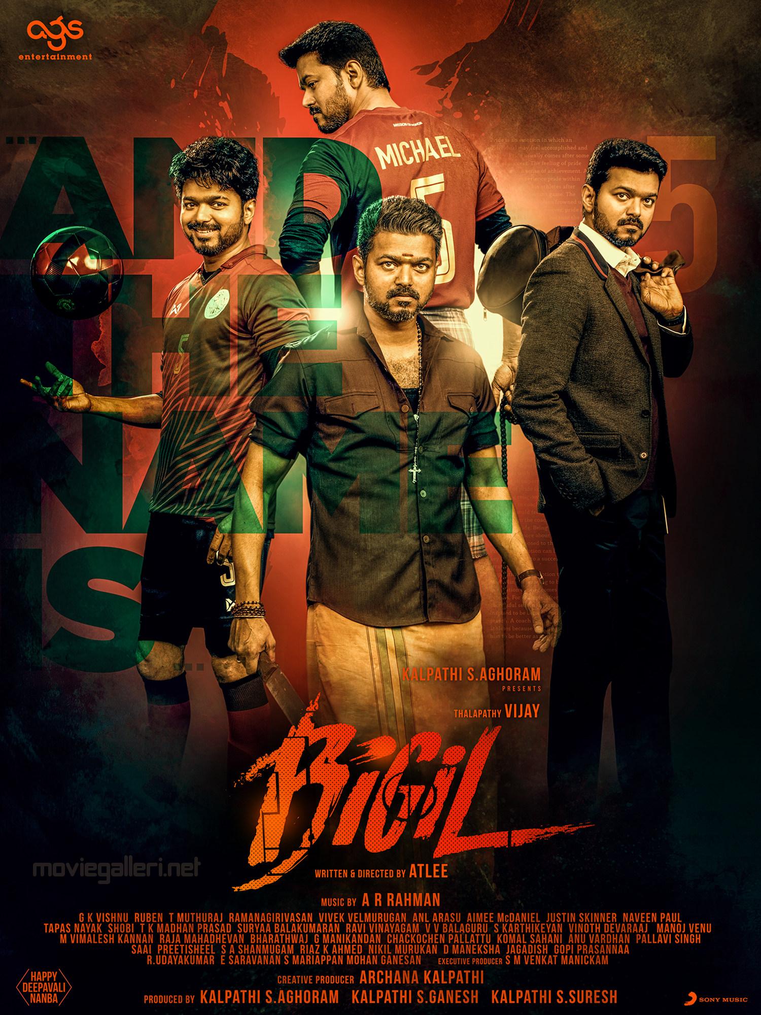 Actor Vijay Bigil Movie Second Look Poster HD