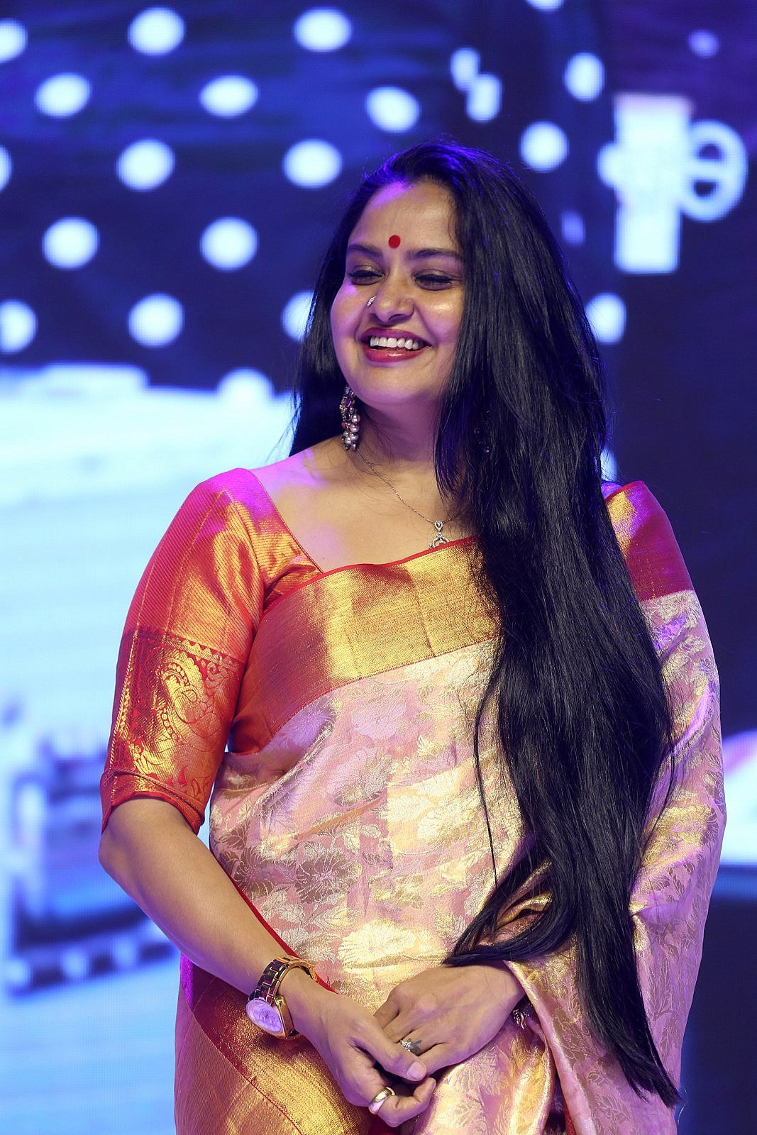 Actress Pragathi Pics HD @ Oh Baby Movie Pre Release Event