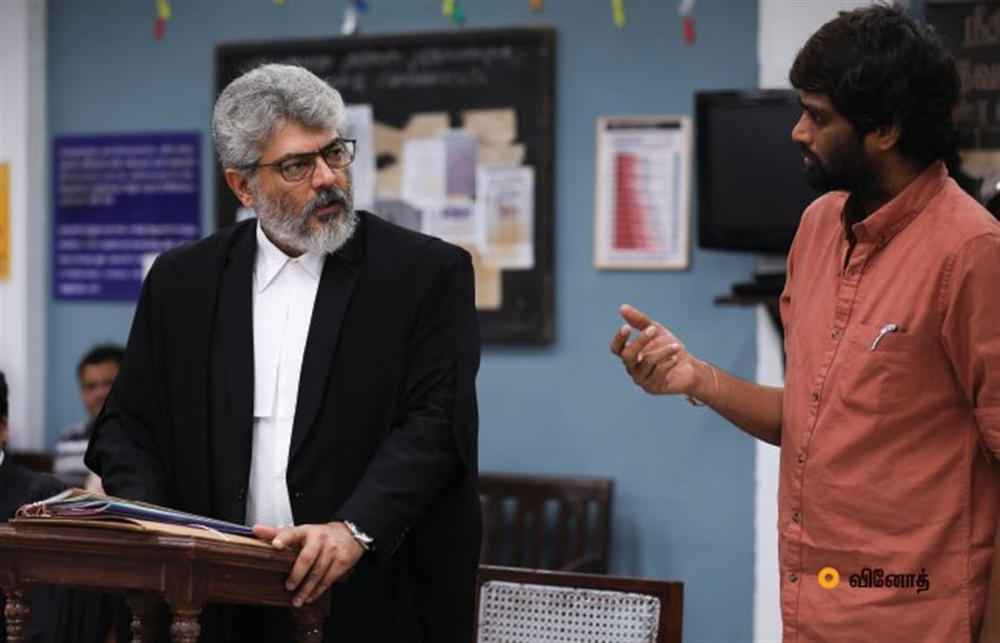 Ajith, H Vinoth @ Ner Konda Paarvai Working Stills