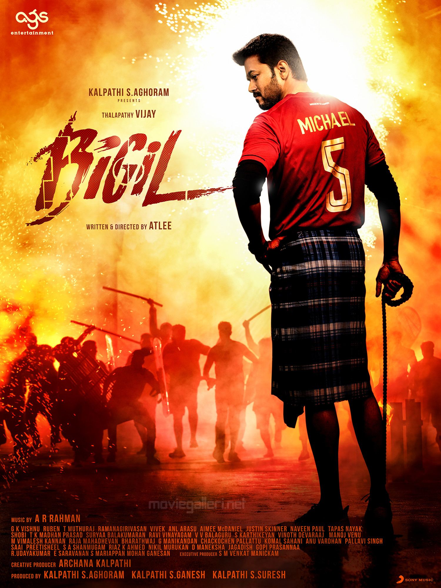 Bigil Vijay New Look Poster HD