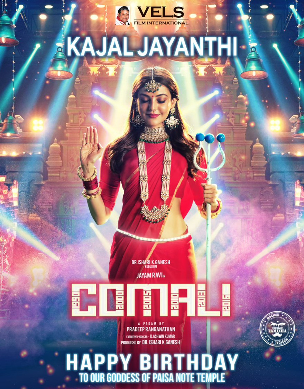 Comali Movie Actress Kajal Aggarwal Birthday Poster HD