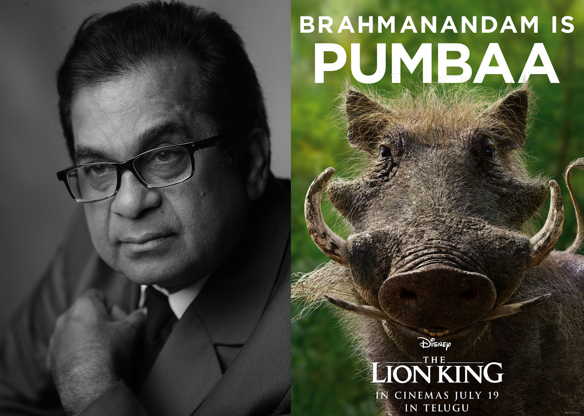 Comedians Brahmanandam lend their voice to lion king