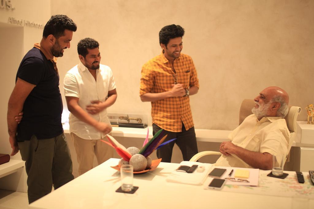 K Raghavendra Rao congratulates Agent Sai Srinivasa Athreya movie team