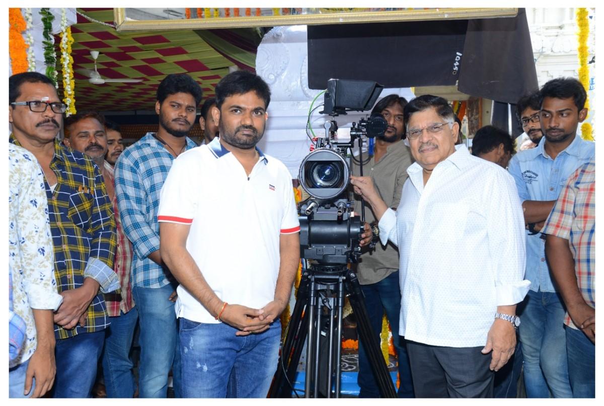 Maruthi, Allu Aravind @ Prati Roju Pandaage Movie Pooja Stills