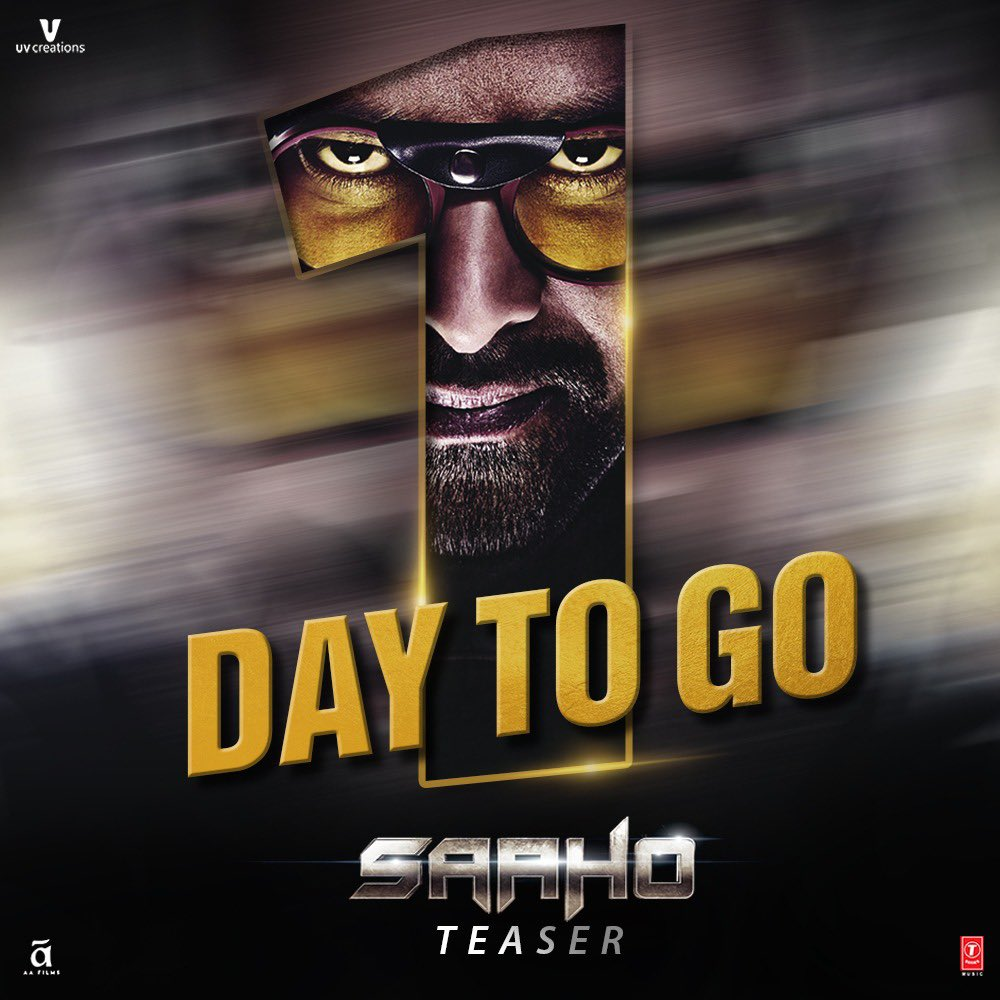 Prabhas Saaho teaser releasing tomorrow