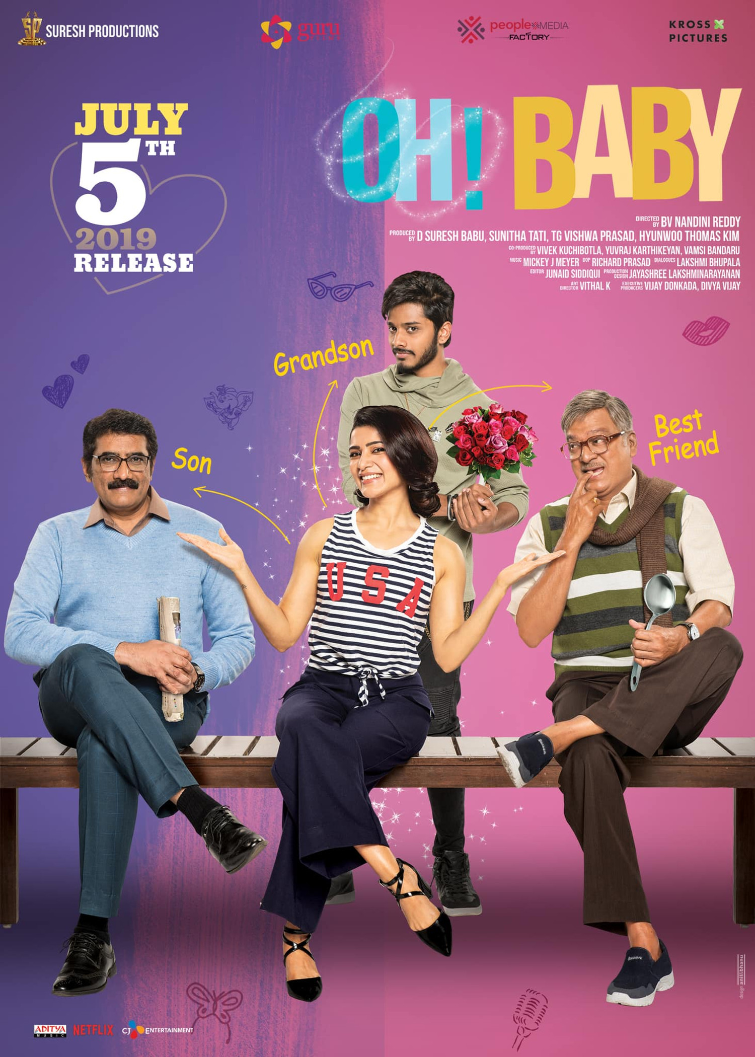Samantha Akkineni Oh Baby Movie Release Date July 5th