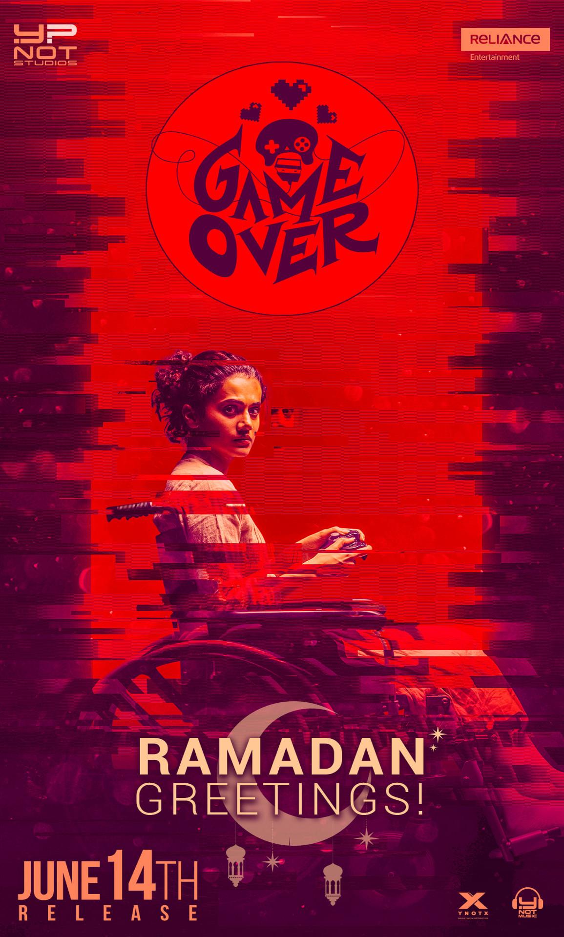 """Taapsee Pannu """"Game Over"""" Releasing in 1200 Screens Worldwide in Telugu, Tamil & Hindi on June 14 2019"""