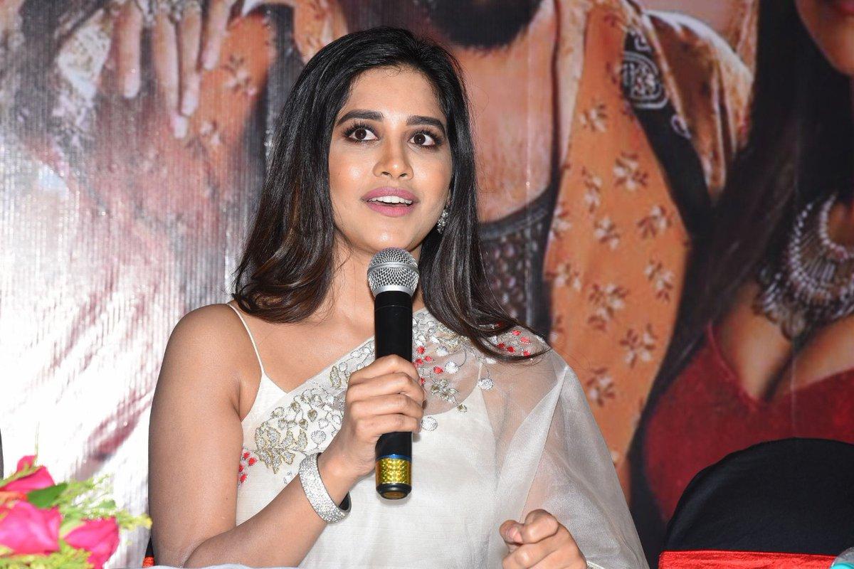 Actress Nabha Natesh @ iSmart Shankar Team @ Vijayawada Gateway Hotel