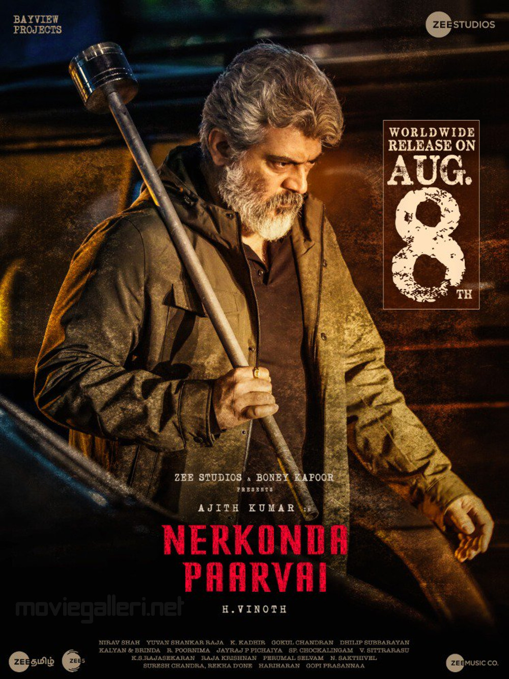 Ajith Nerkonda Paarvai Release Date on Aug 8th Posters