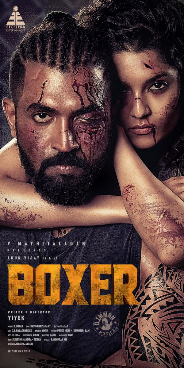 Arun Vijay Ritika Singh Boxer Movie First Look Posters