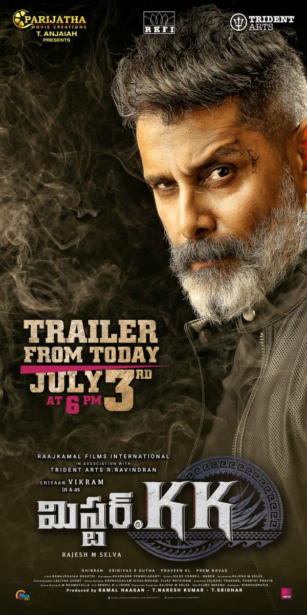 Chiyaan Vikram Mister KK Trailer Release Today Posters
