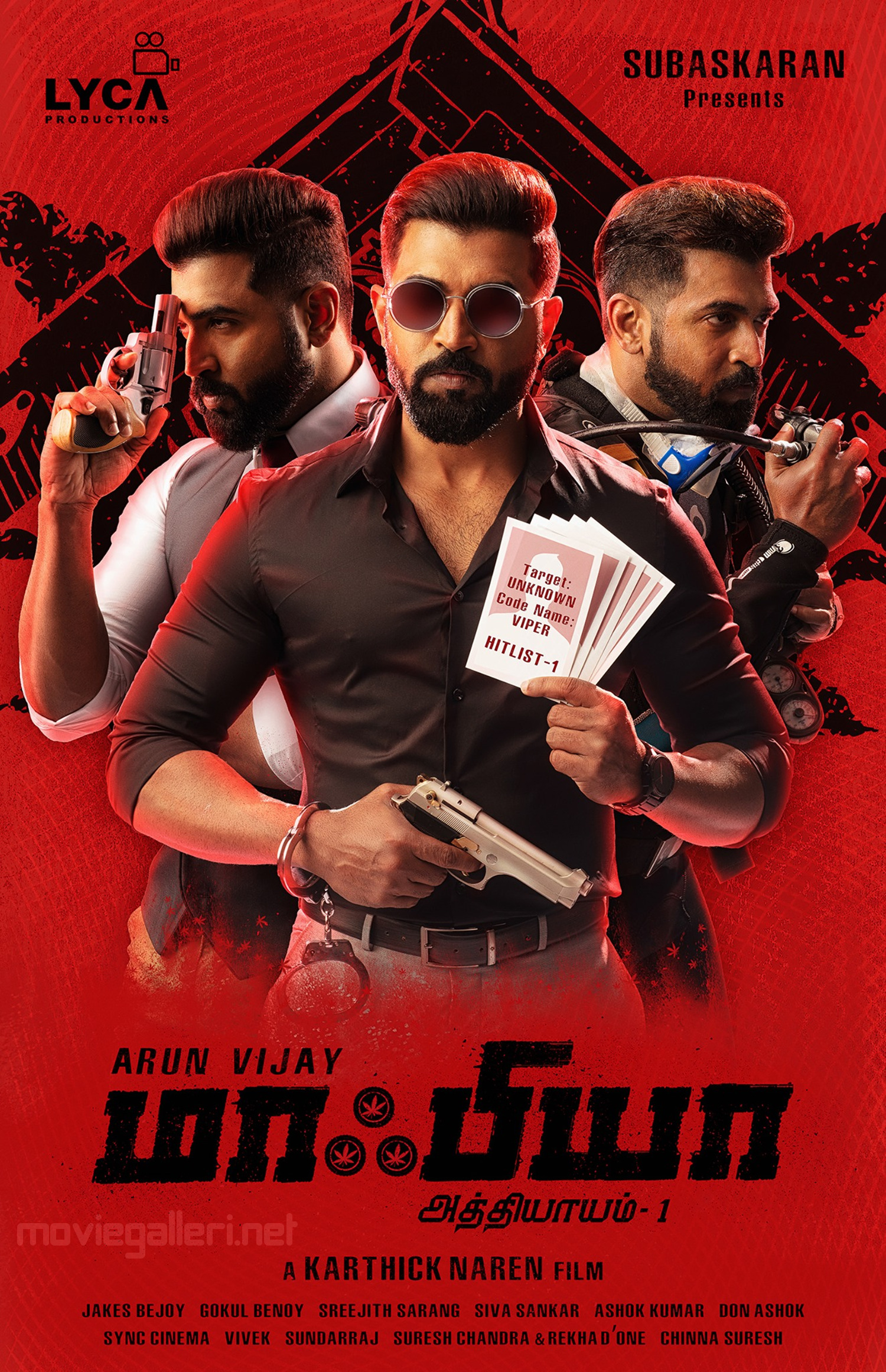 Hero Arun Vijay Mafia Movie First Look Poster HD