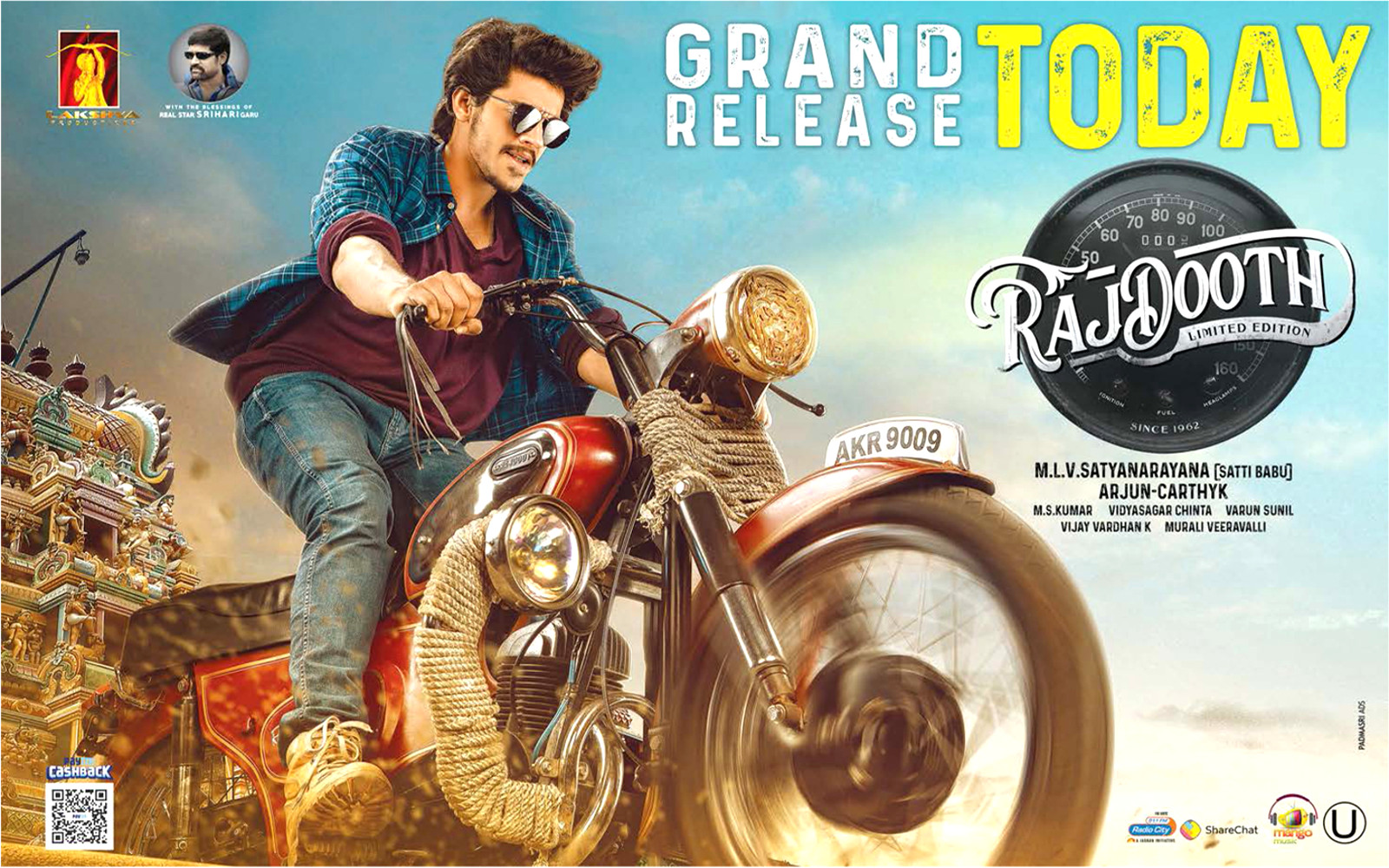 Hero Meghamsh Srihari Rajdooth Movie Release Today Posters