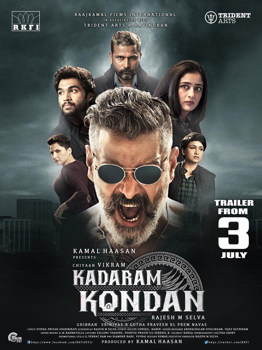 Vikram Kadaram Kondan Trailer Release Posters