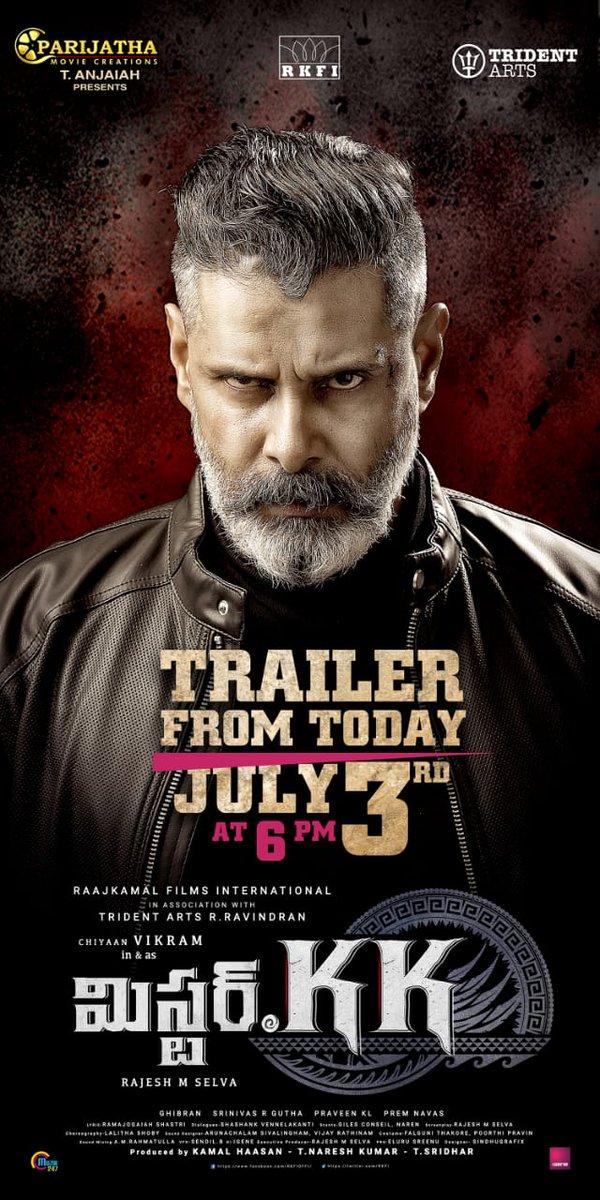 Vikram Mister KK Movie Trailer Release Posters