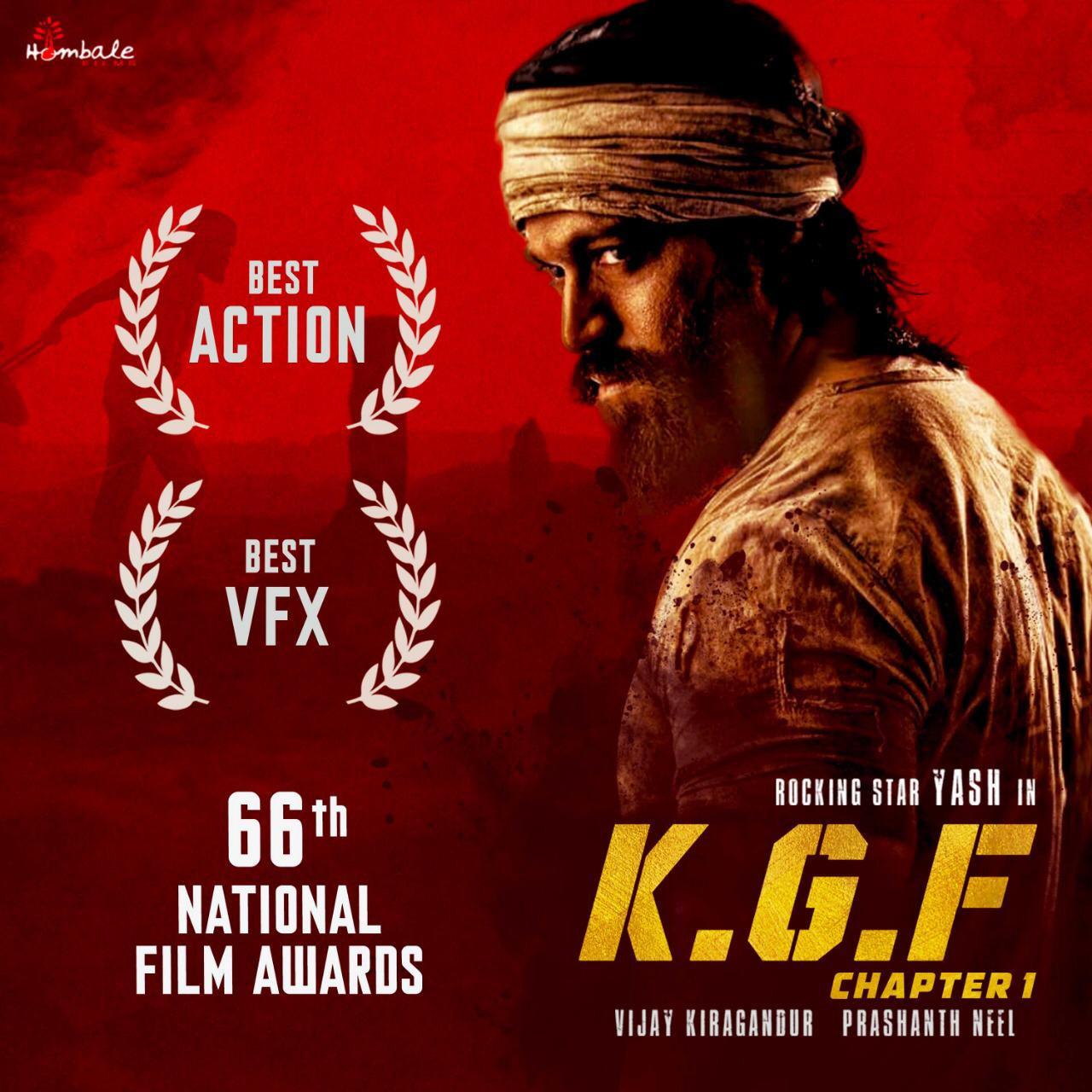 'KGF' bags two National Awards