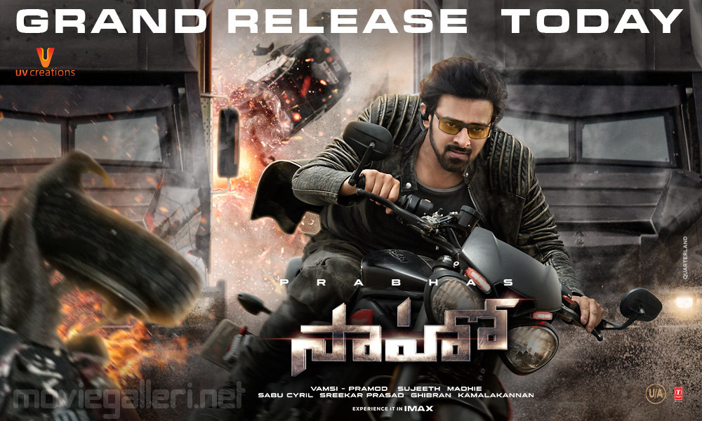 Actor Prabhas Saaho Movie Grand Release Today Posters HD