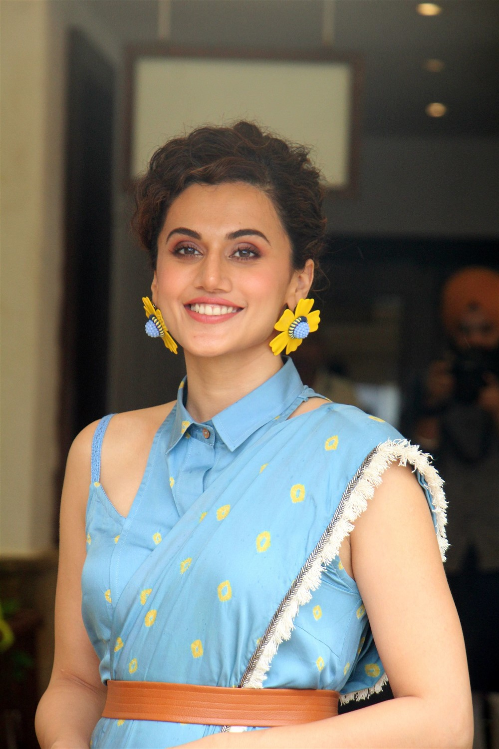 Actress Taapsee Pannu @ Mission Mangal Media Interactions Photos