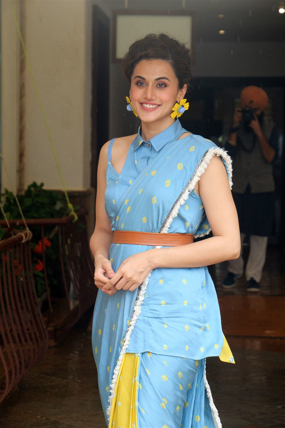 Actress Taapsee Photos @ Mission Mangal Media Interactions