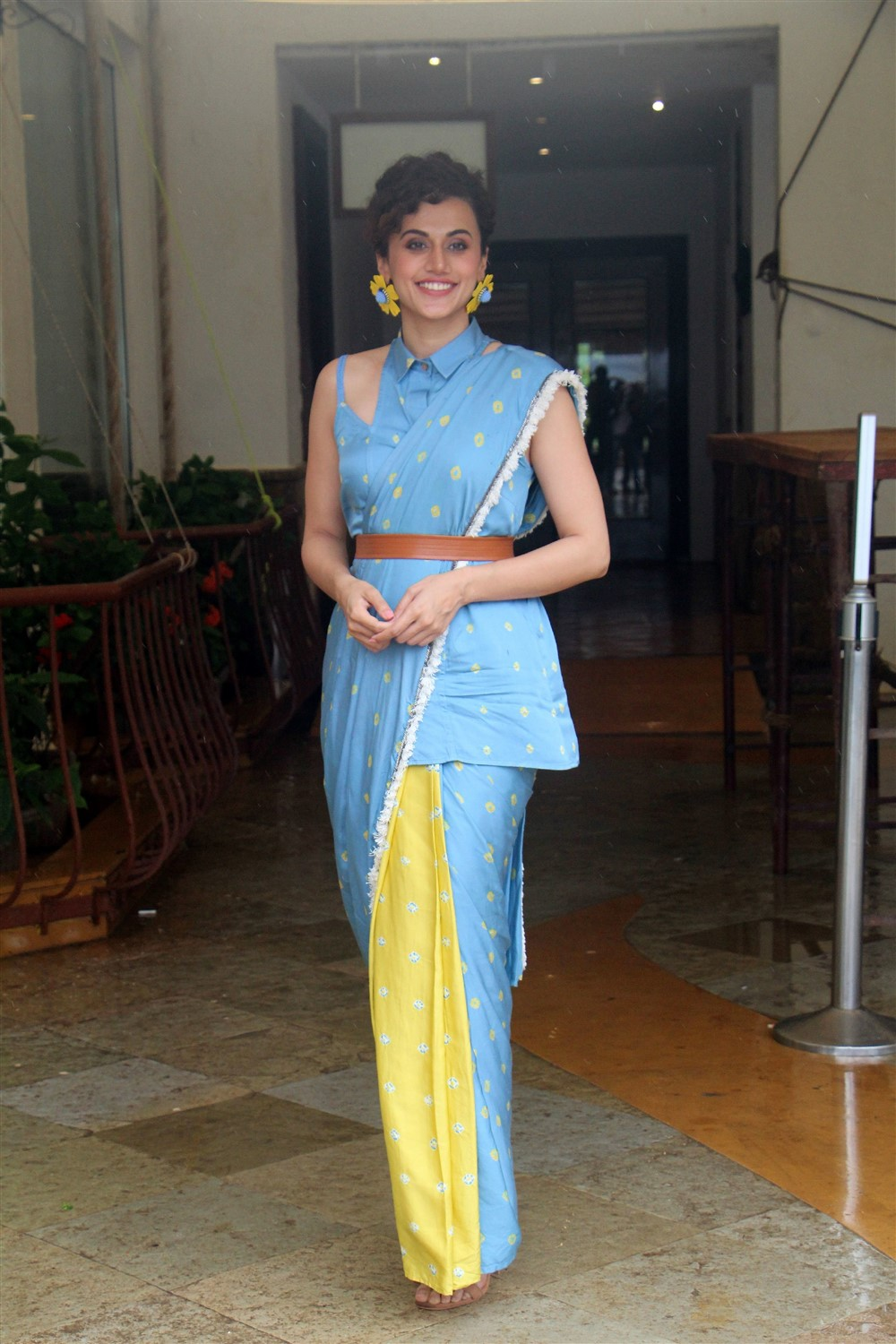 Actress Taapsee Photos @ Mission Mangal Movie Media Interactions