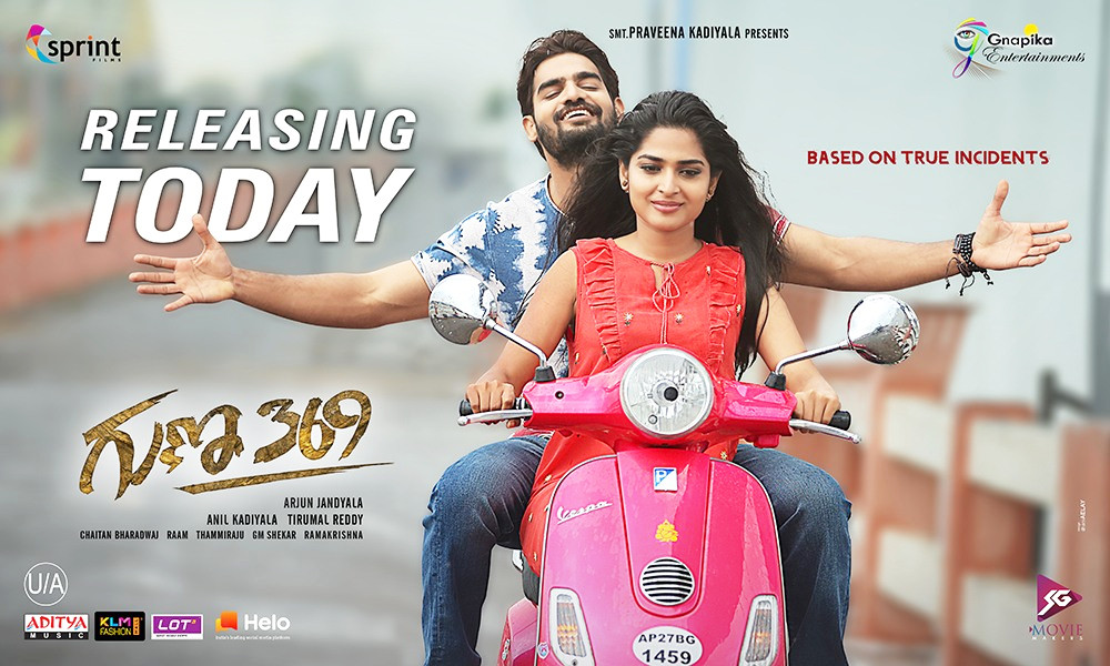 Karthikeya, Anagha in Guna 369 Movie Release Today Posters