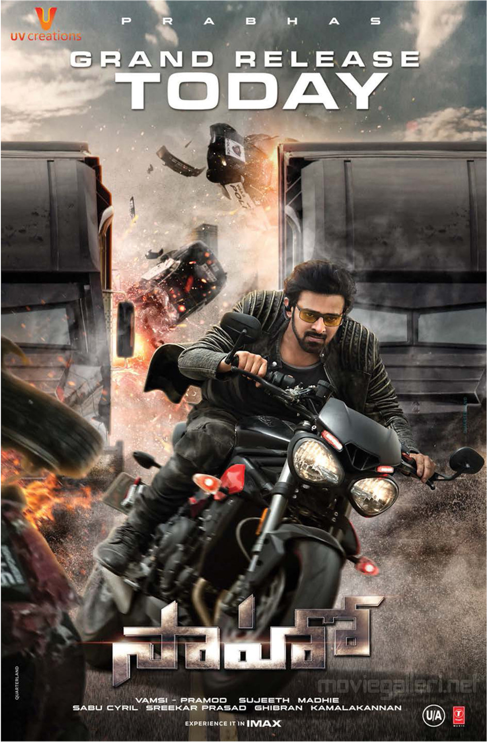 Prabhas Saaho Movie Grand Release Today Posters HD