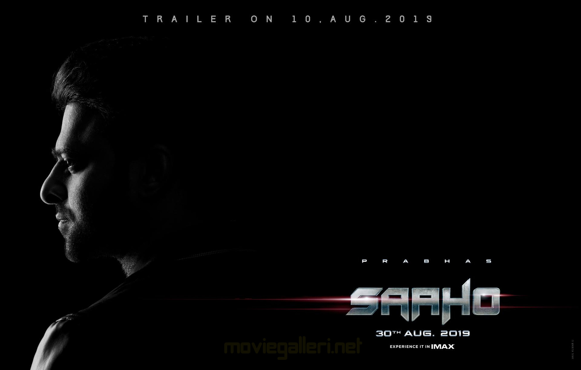 Prabhas Saaho Movie Trailer Releasing on 10th August Poster HD