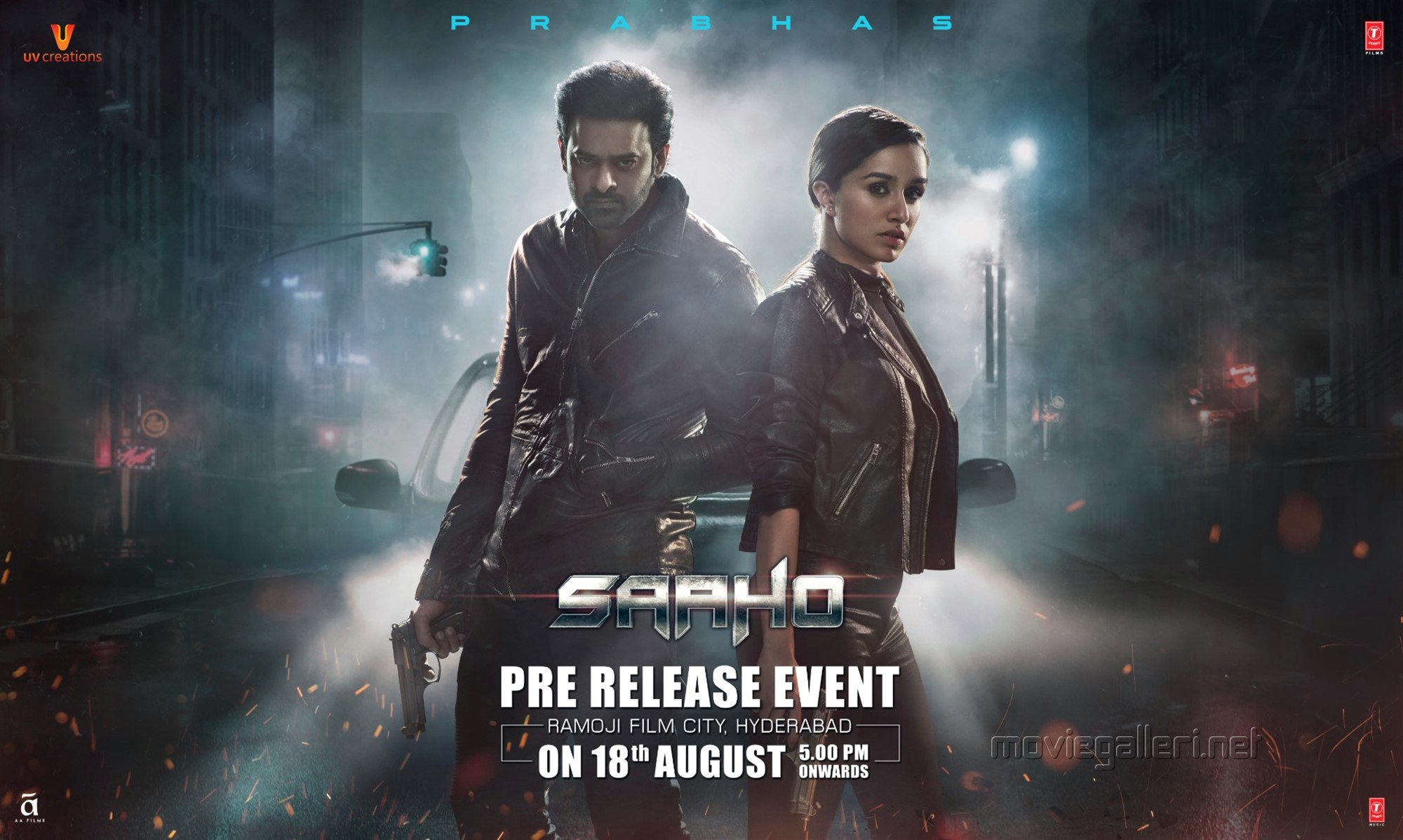 Prabhas Shraddha Kapoor Saaho Movie Pre Release Event on 18th August Wallpapers HD