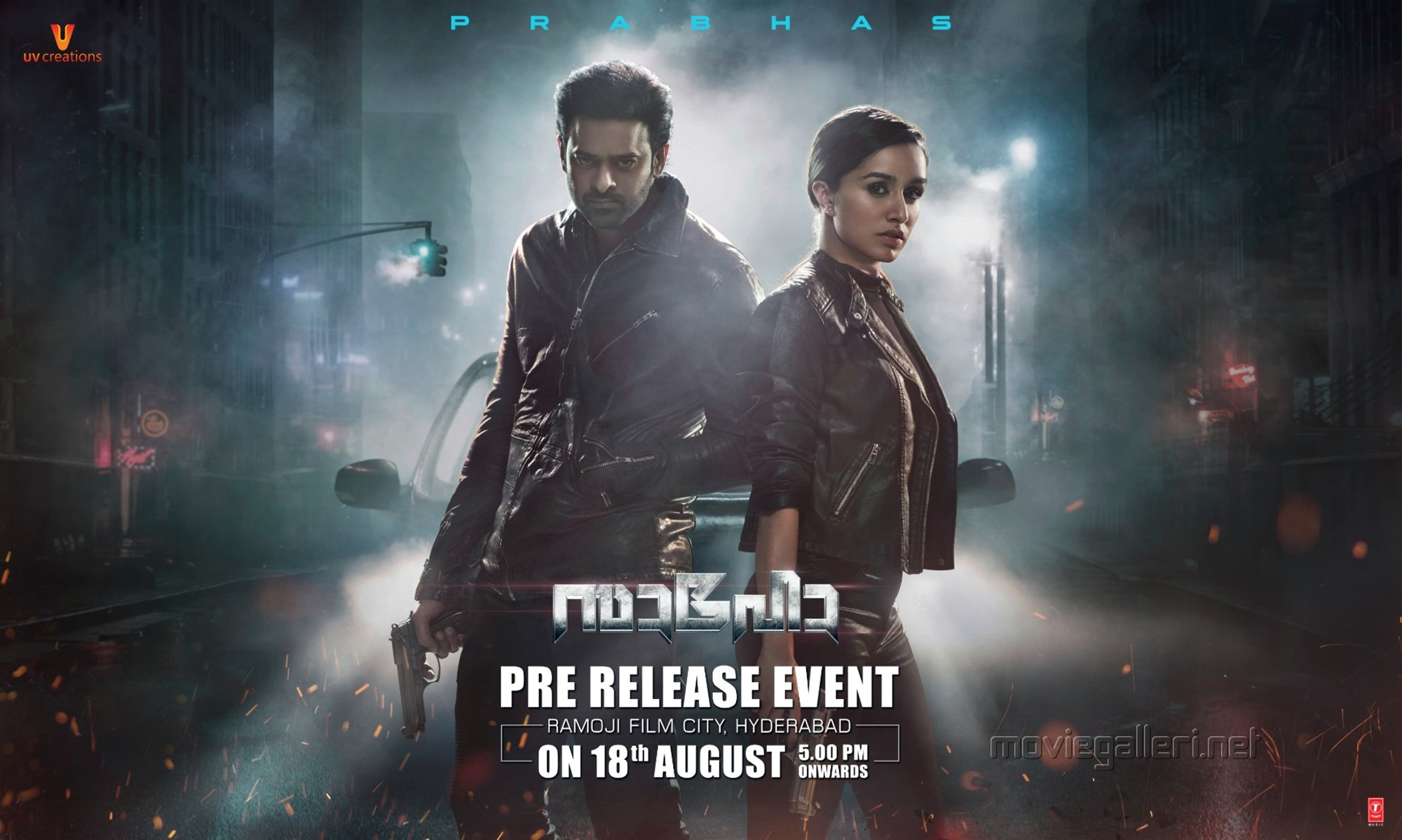 Prabhas Shraddha Kapoor Saaho Movie Pre Release Event on August 18th Wallpapers HD