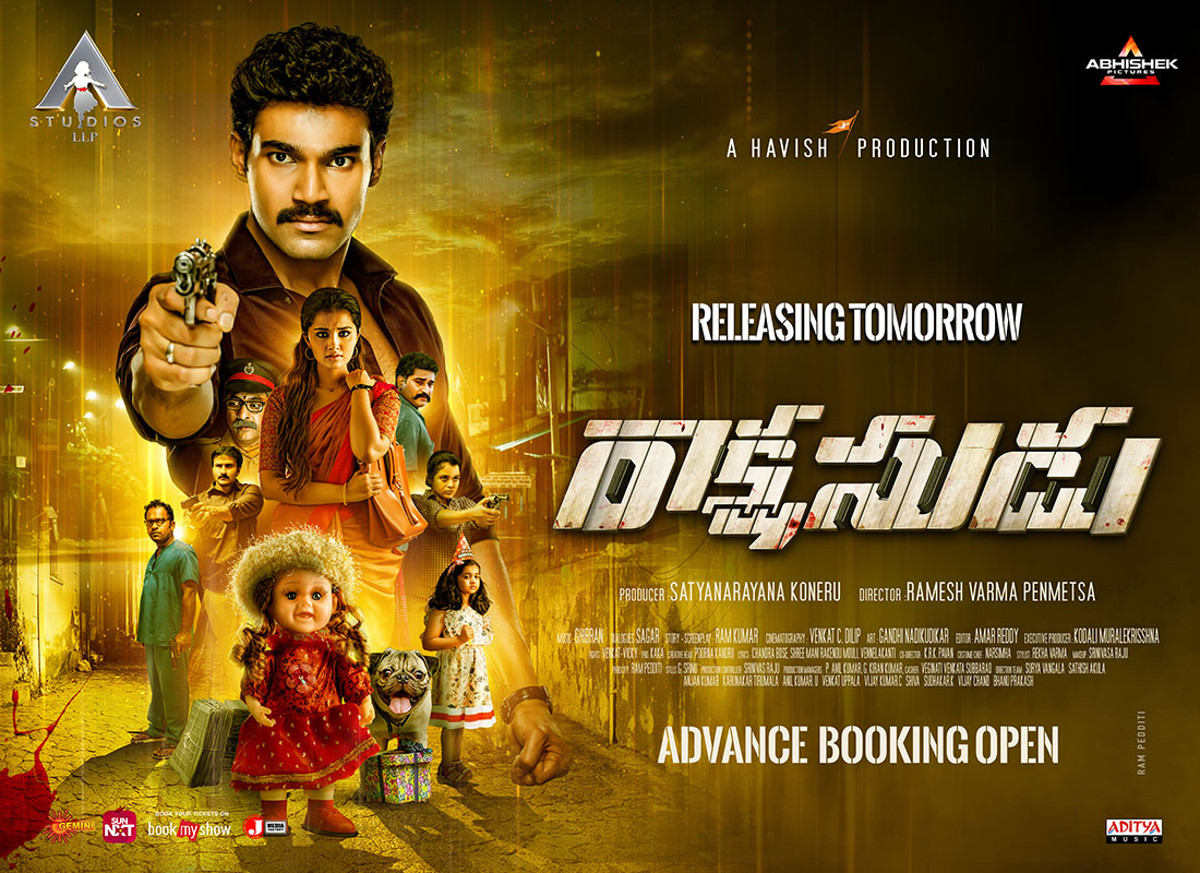 Rakshasudu Movie Releasing Tomorrow Posters