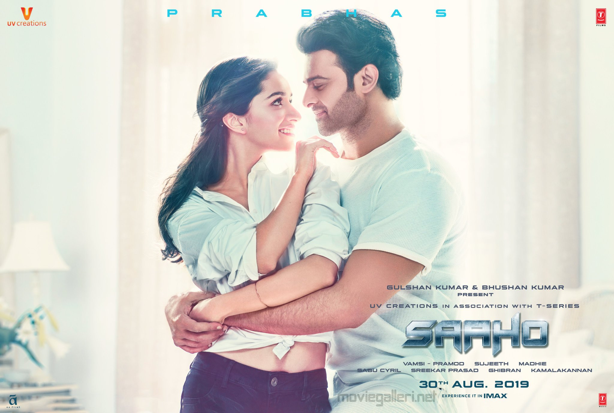 Shraddha Kapoor Prabhas Saaho Movie Release Today Poster HD