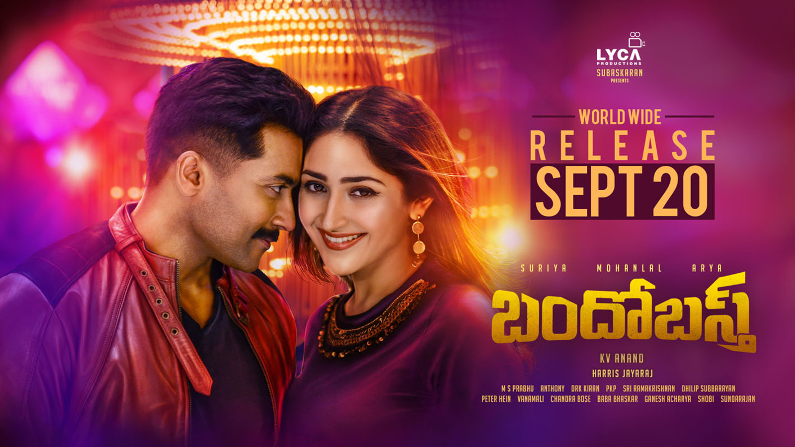 Suriya Sayesha Bandobast movie release date on September 20