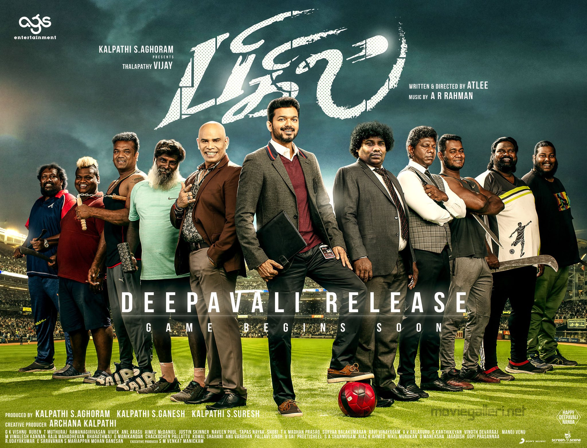 Thalapathy Vijay Bigil Movie Deepavali Release Poster HD
