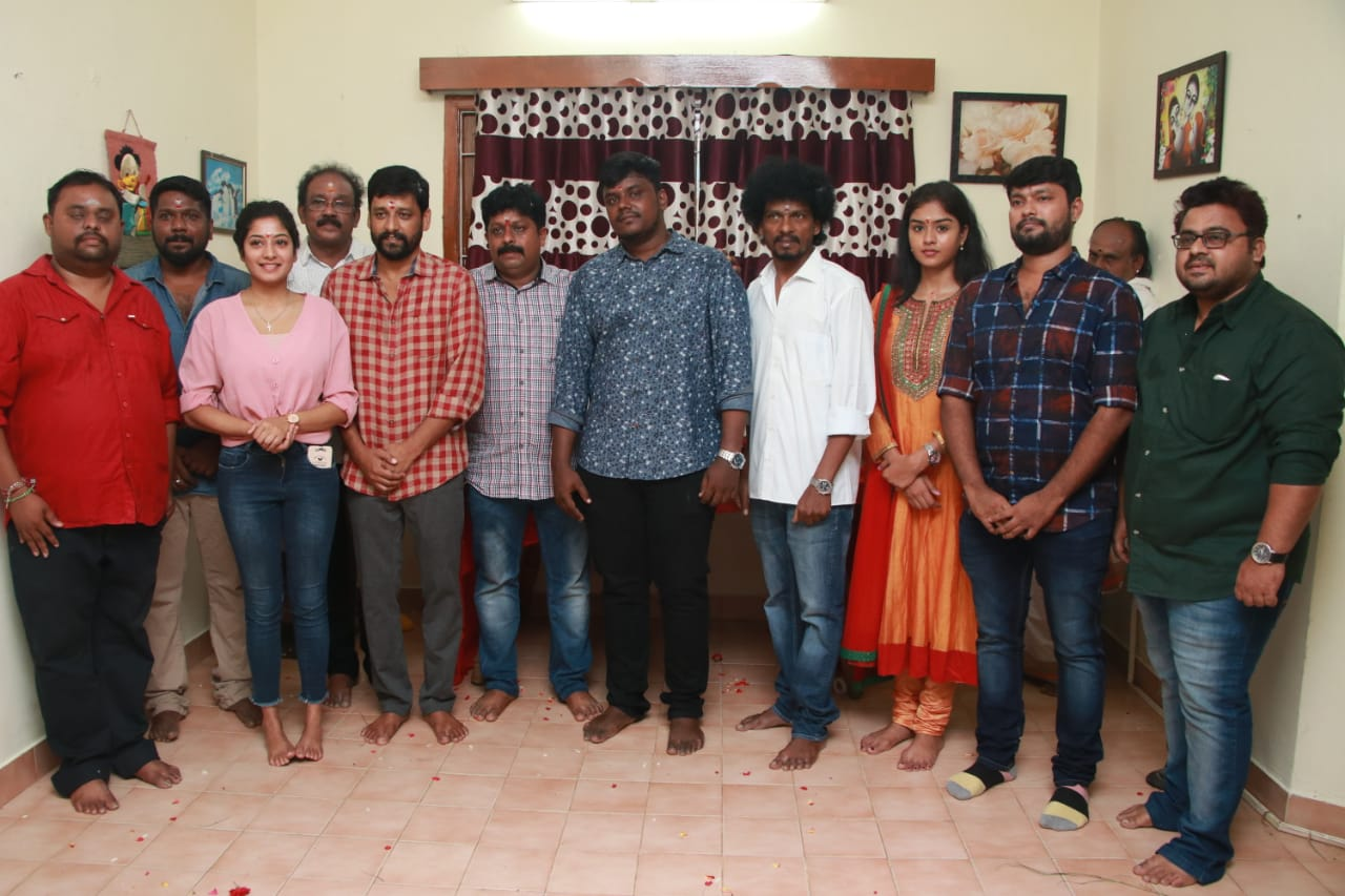 Vidharth Anjali Nair Movie Pooja Stills