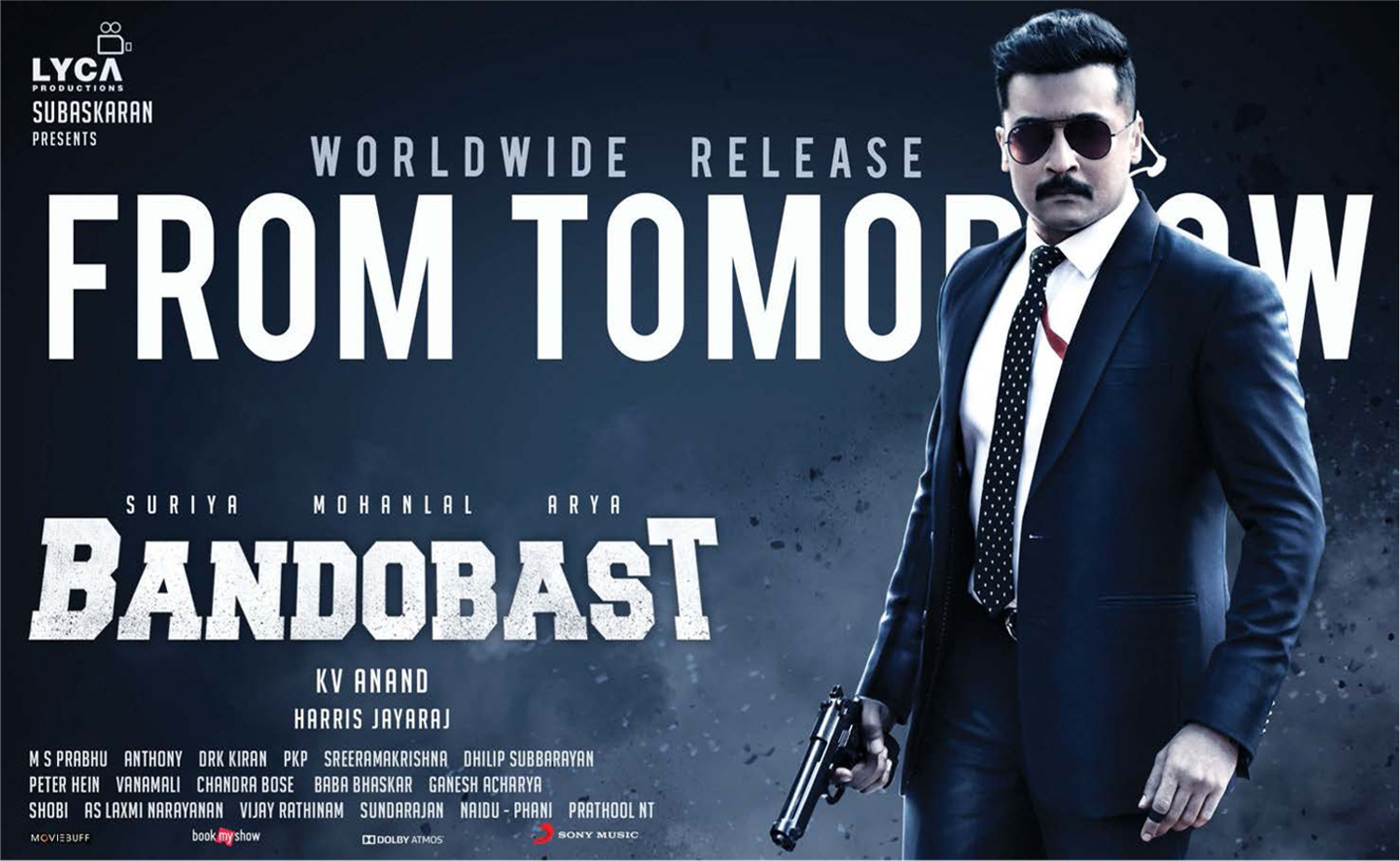 Actor Suriya Bandobast Movie from Tomorrow Posters