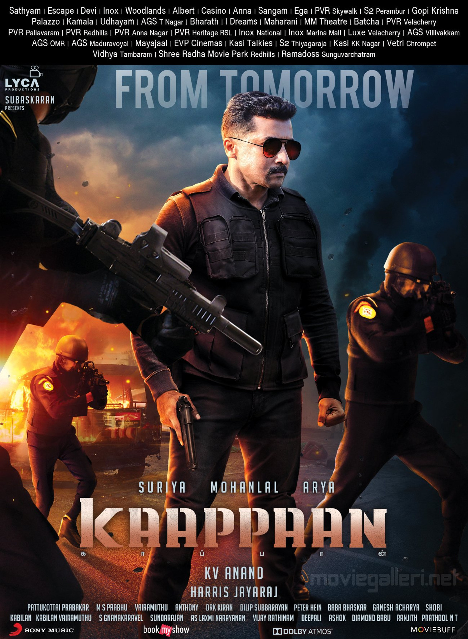 Actor Suriya Kaappaan Movie Tomorrow Release Posters HD