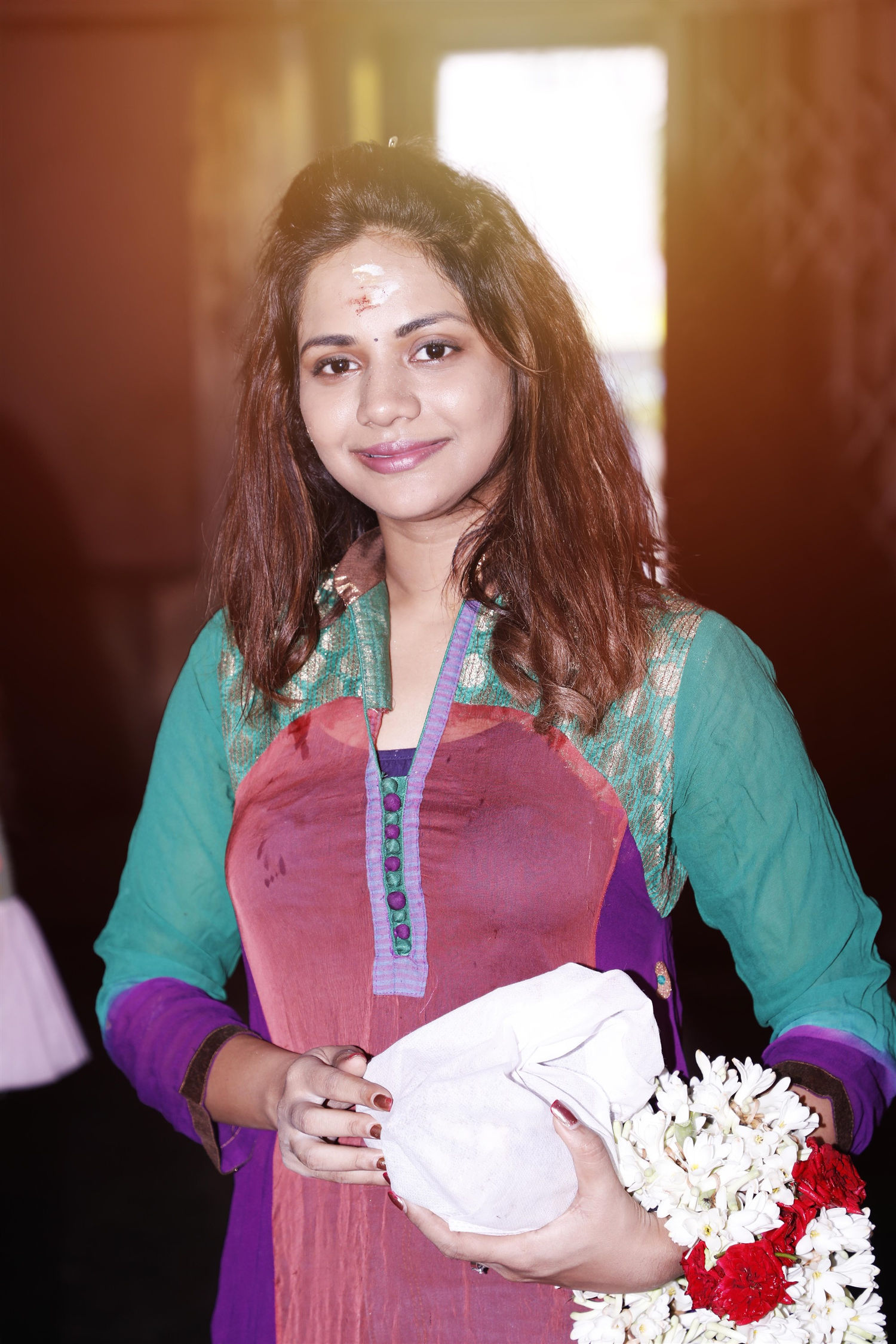 Actress Aishwarya Dutta @ Polladha Ulagil Bayangara Game (PubG) Movie Pooja Stills
