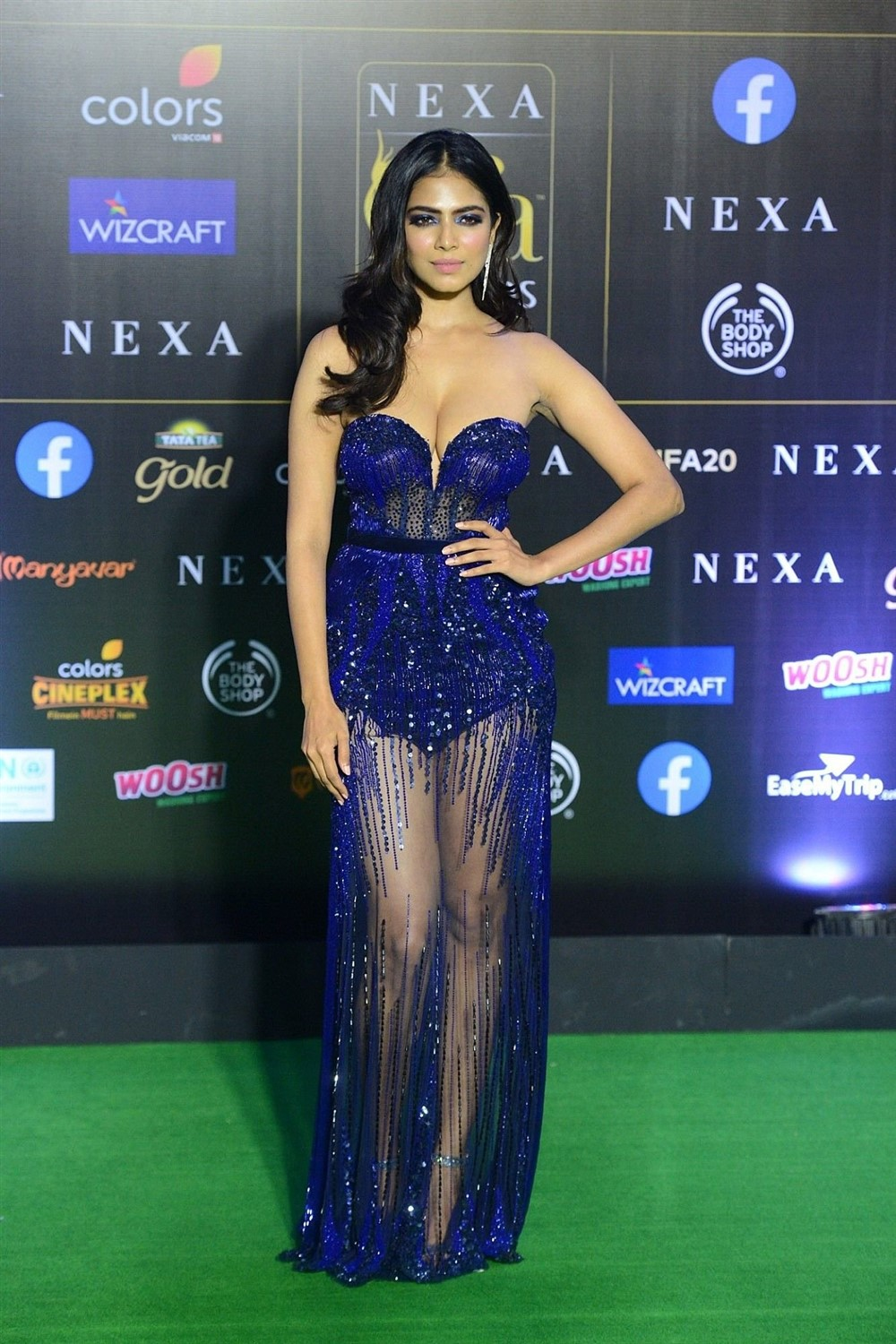 Actress Malavika Mohanan Stills @ IIFA 2019 Green Carpet