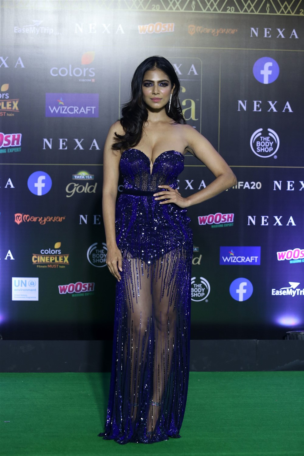 Actress Malavika Mohanan Stills @ IIFA Rocks 2019 Green Carpet