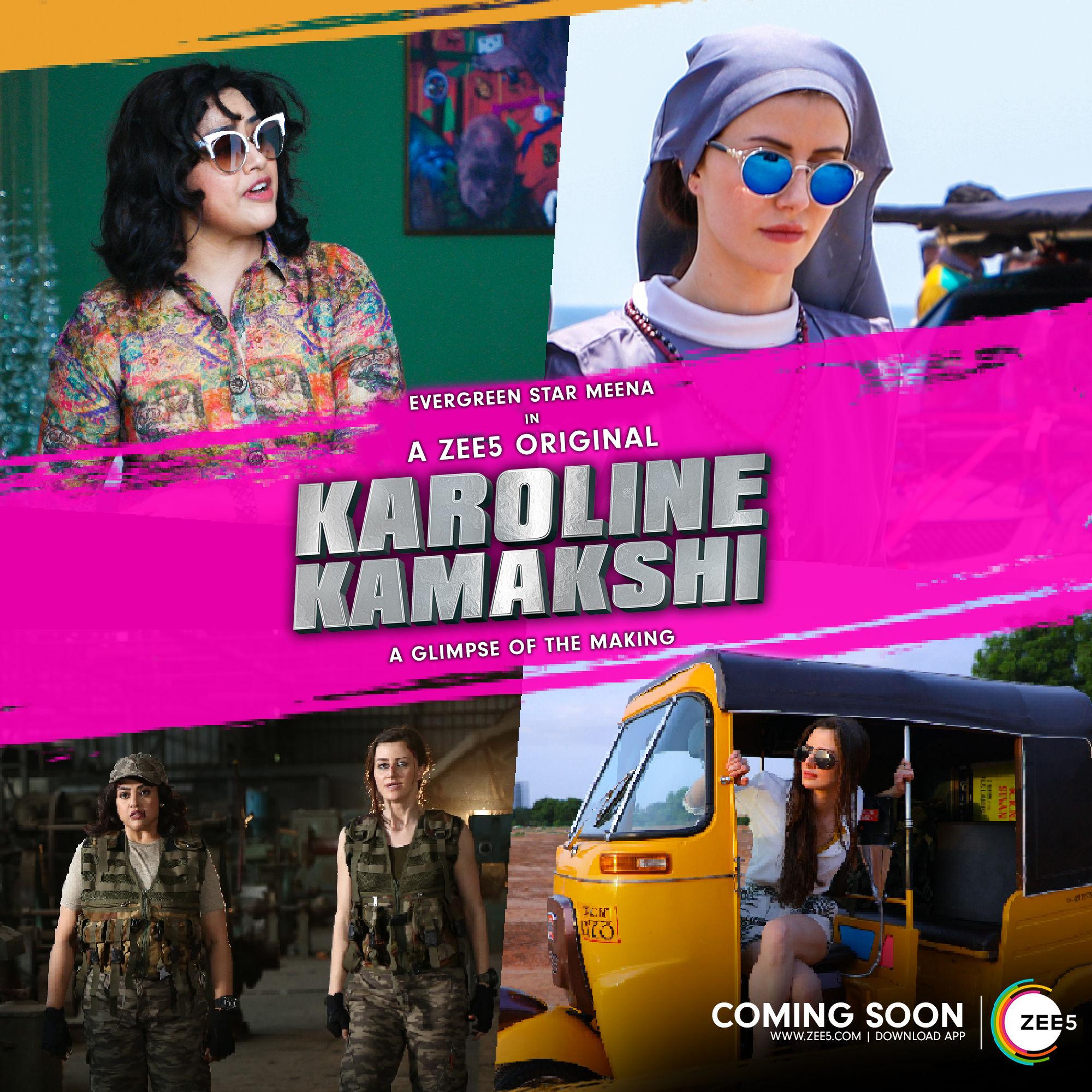 Actress Meena Karoline Kamakshi Web Series in ZEE5 APP