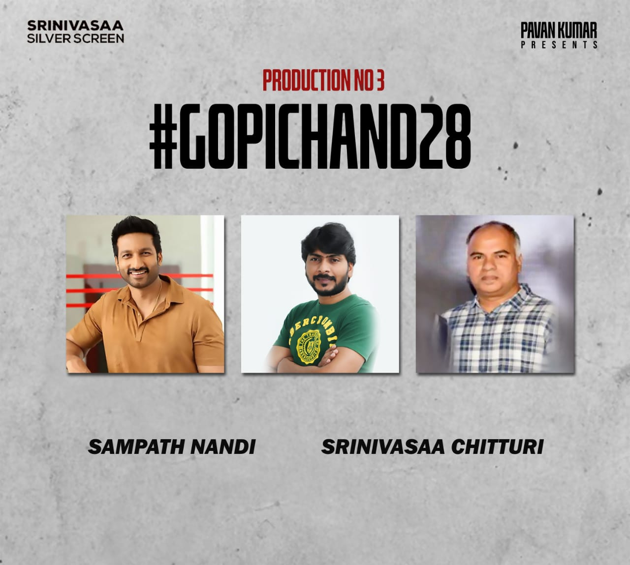 Gopichand, Sampath Nandi's Film in Srinivasaa Chitturi's Production
