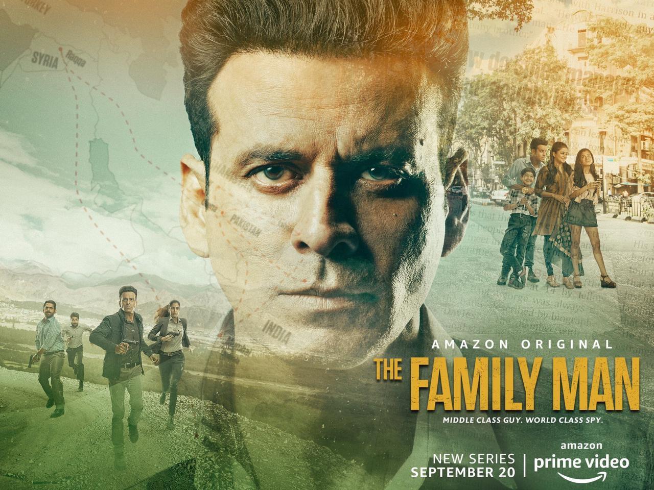 Manoj Bajpayee, Priyamani in The Family Man Web Series
