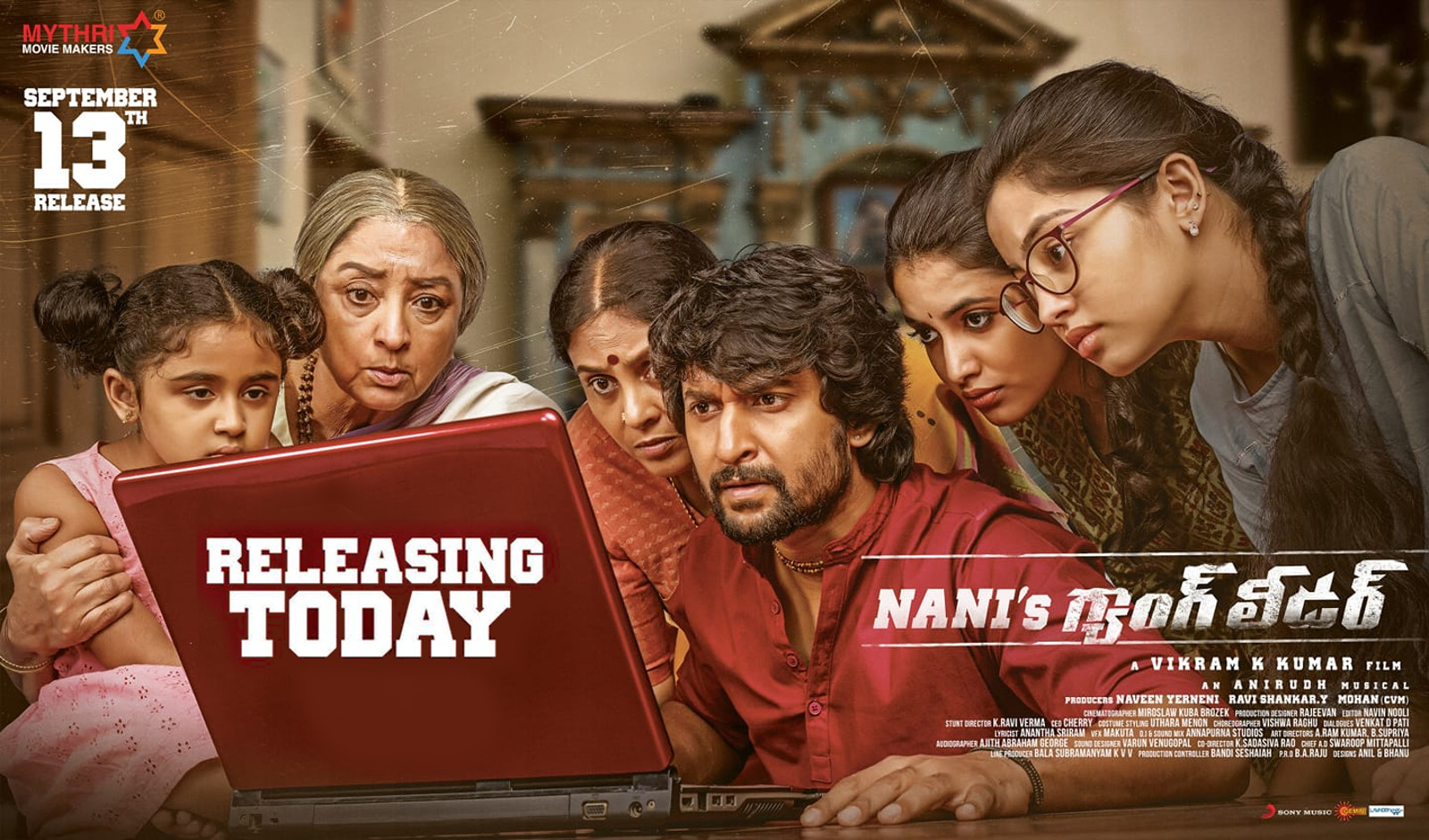 Nani's Gang Leader Movie Release Today Poster HD