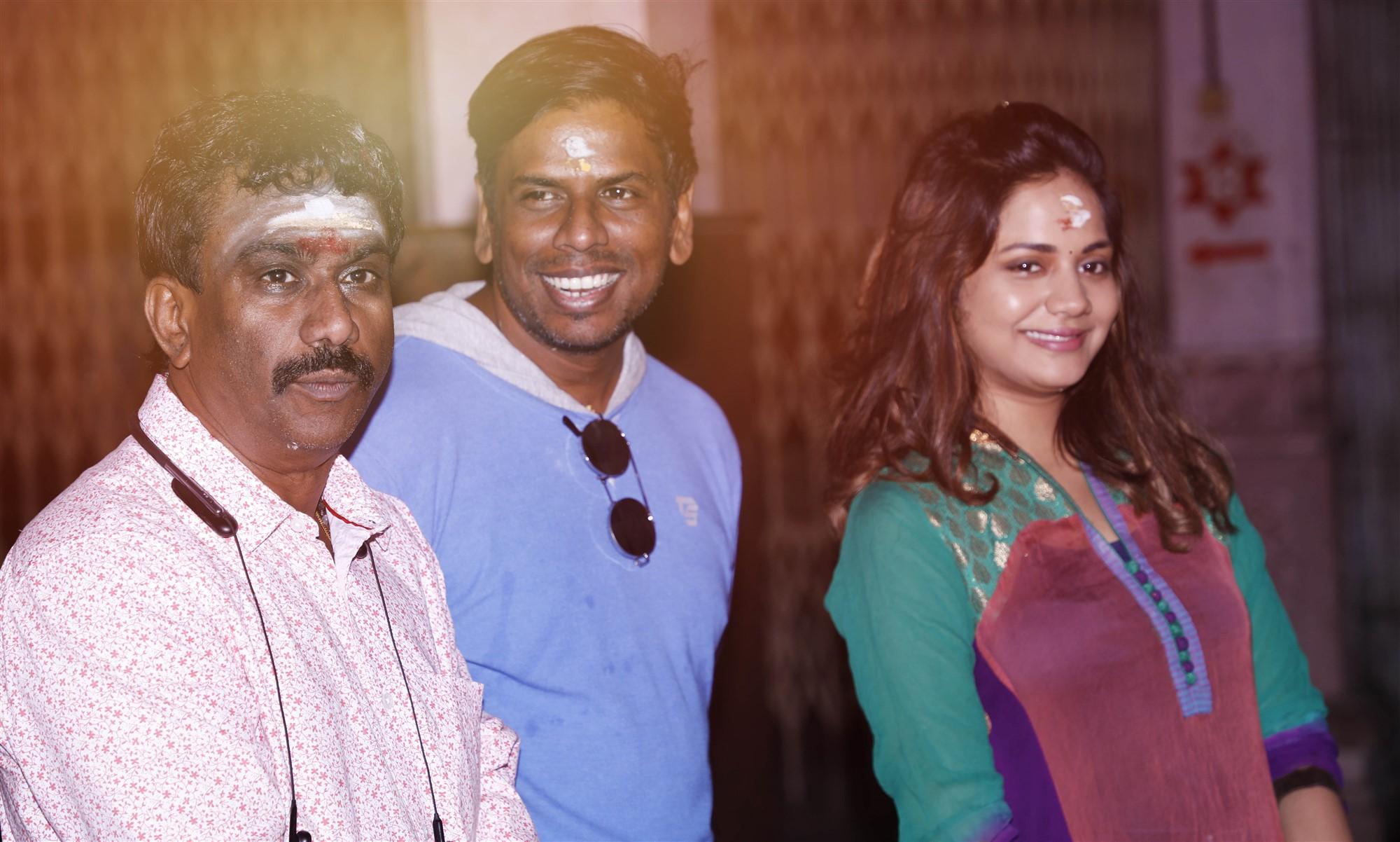 Nikhil Murgan, Vijay Sri G, Aishwarya Dutta @ Polladha Ulagil Bayangara Game (PubG) Movie Pooja Stills