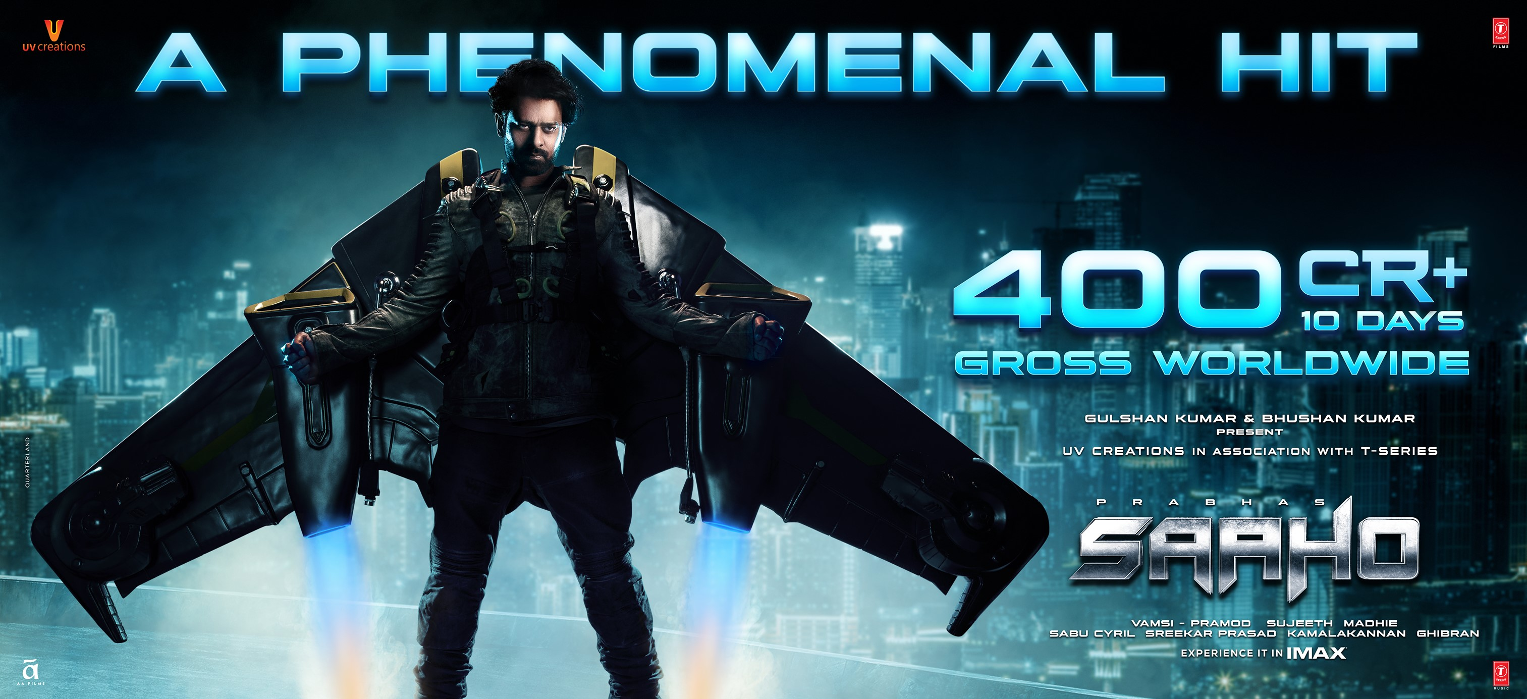 Prabhas Saaho fever continues as it crosses the 400 crores benchmark across the globe