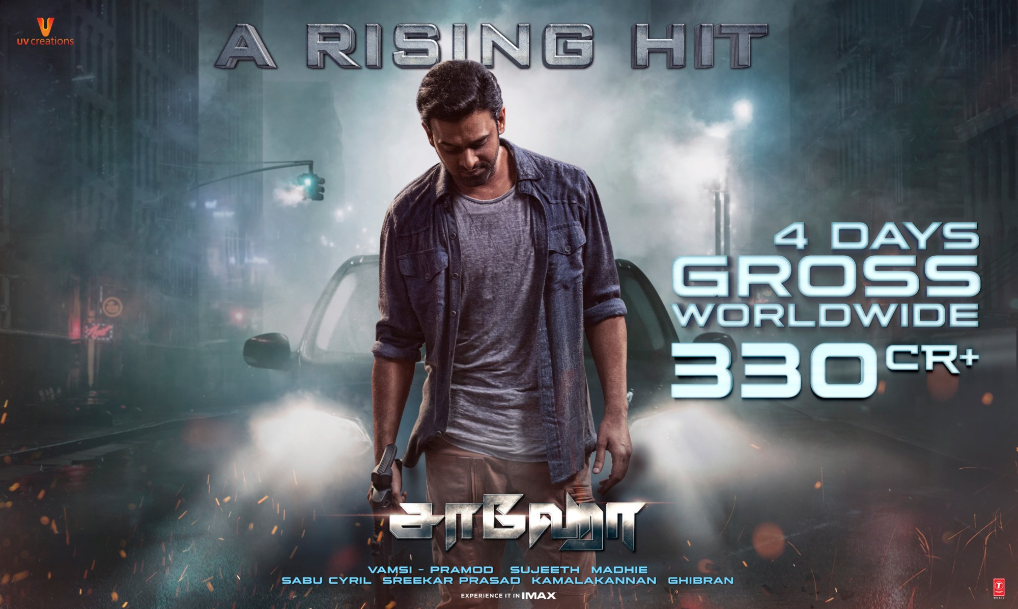 Prabhas stardom has pulled Saaho on the top; collects whopping number of 330 cr worldwide in just 4 days