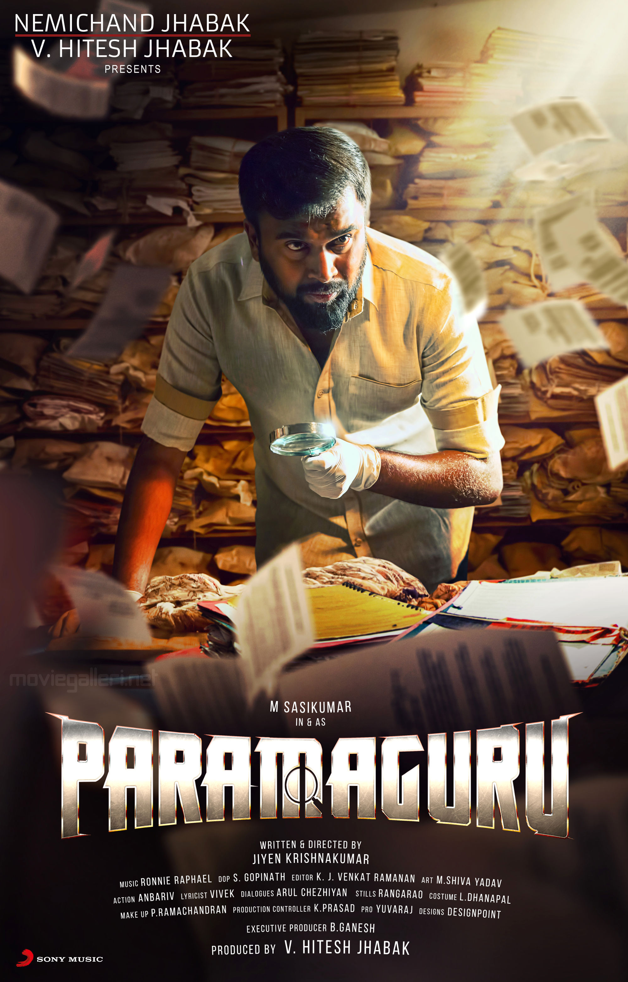 Sasikumar Paramaguru Movie First Look Poster HD