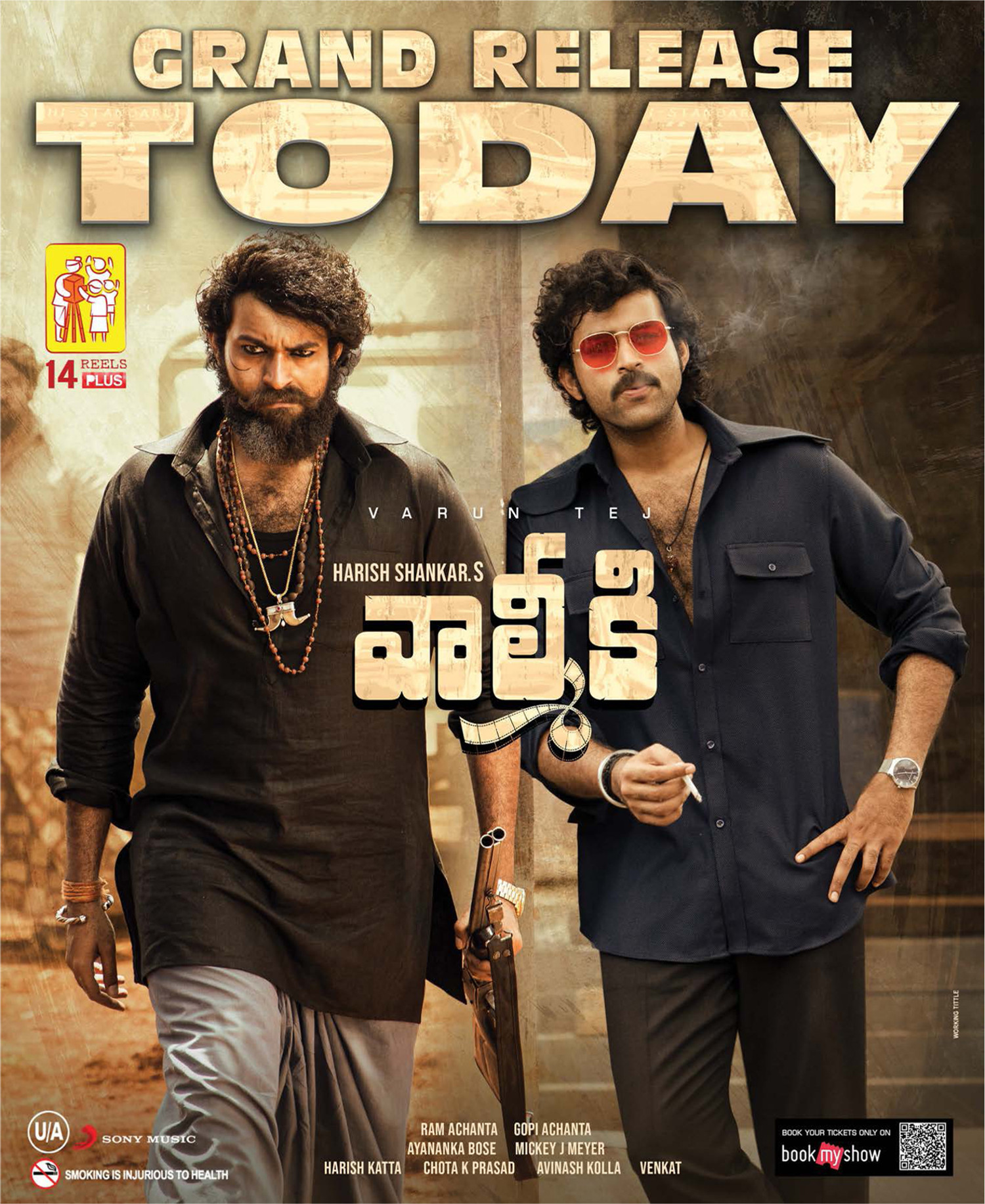 Varun Tej Valmiki Movie Release Today Posters HD